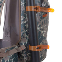 Fishpond Lariat Gear Straps attached to backpack