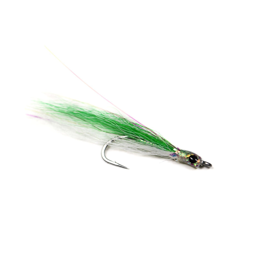 Flashy Lady - Chartreuse / White - Pacific Fly Fishers