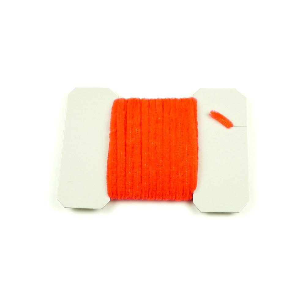 Fluorescent Nylon Chenille - Fire Orange
