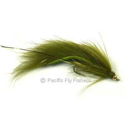 Gold Bead Bouface - Olive - Pacific Fly Fishers