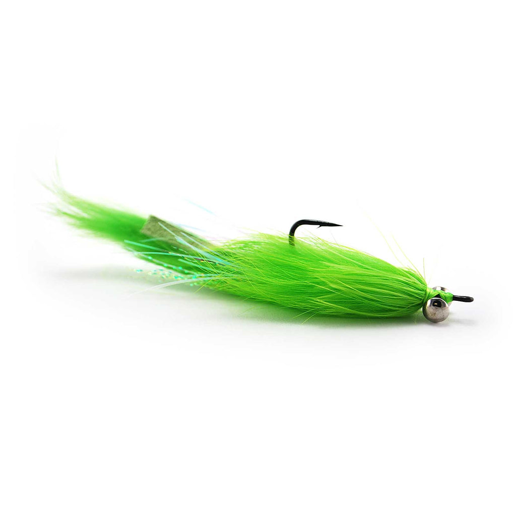 Hare Ball Leech - Chartreuse - Pacific Fly Fishers