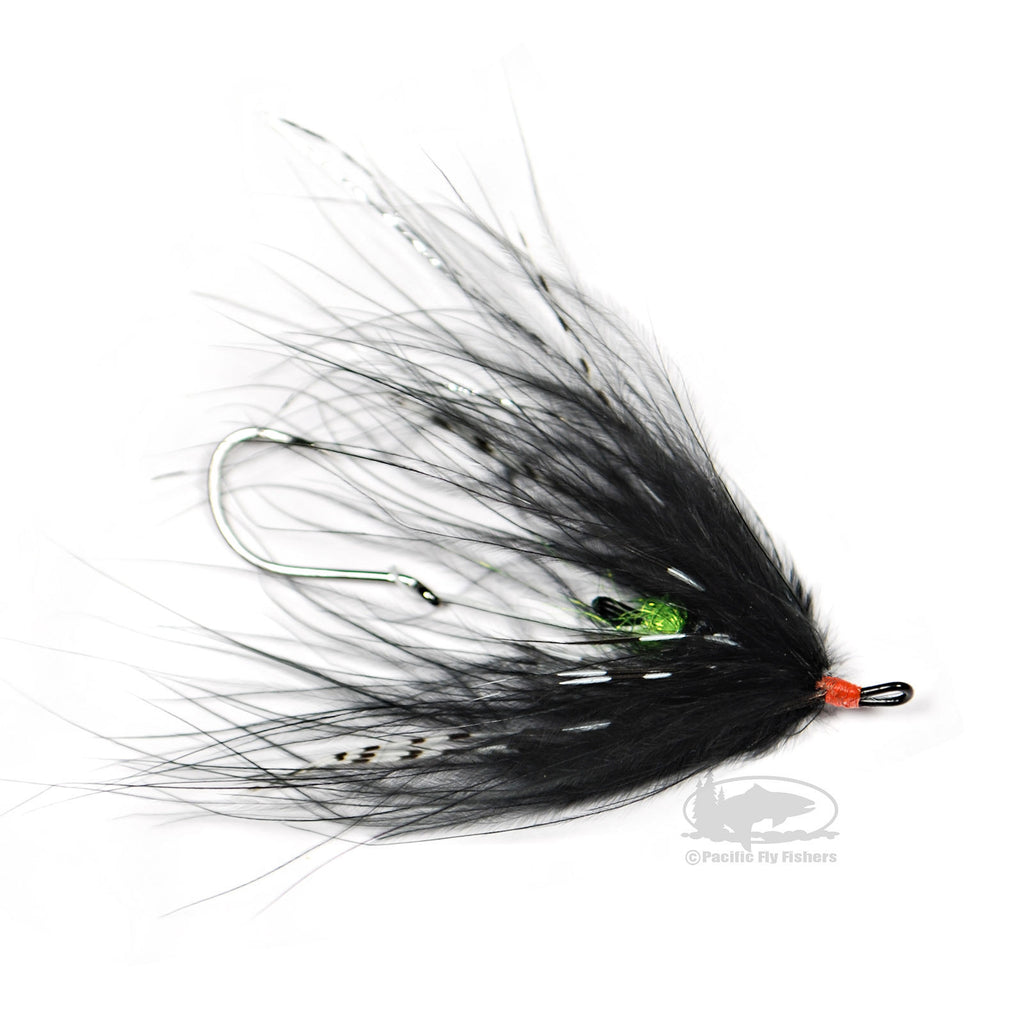 Hoh Bo Spey - Black and Chartreuse - Steelhead Fly