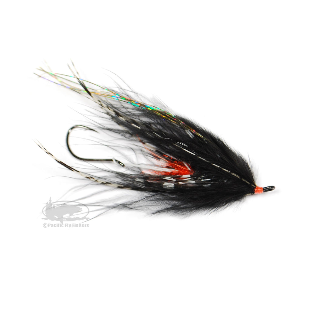 Hoh Bo Spey - Black and Orange - Steelhead Fly