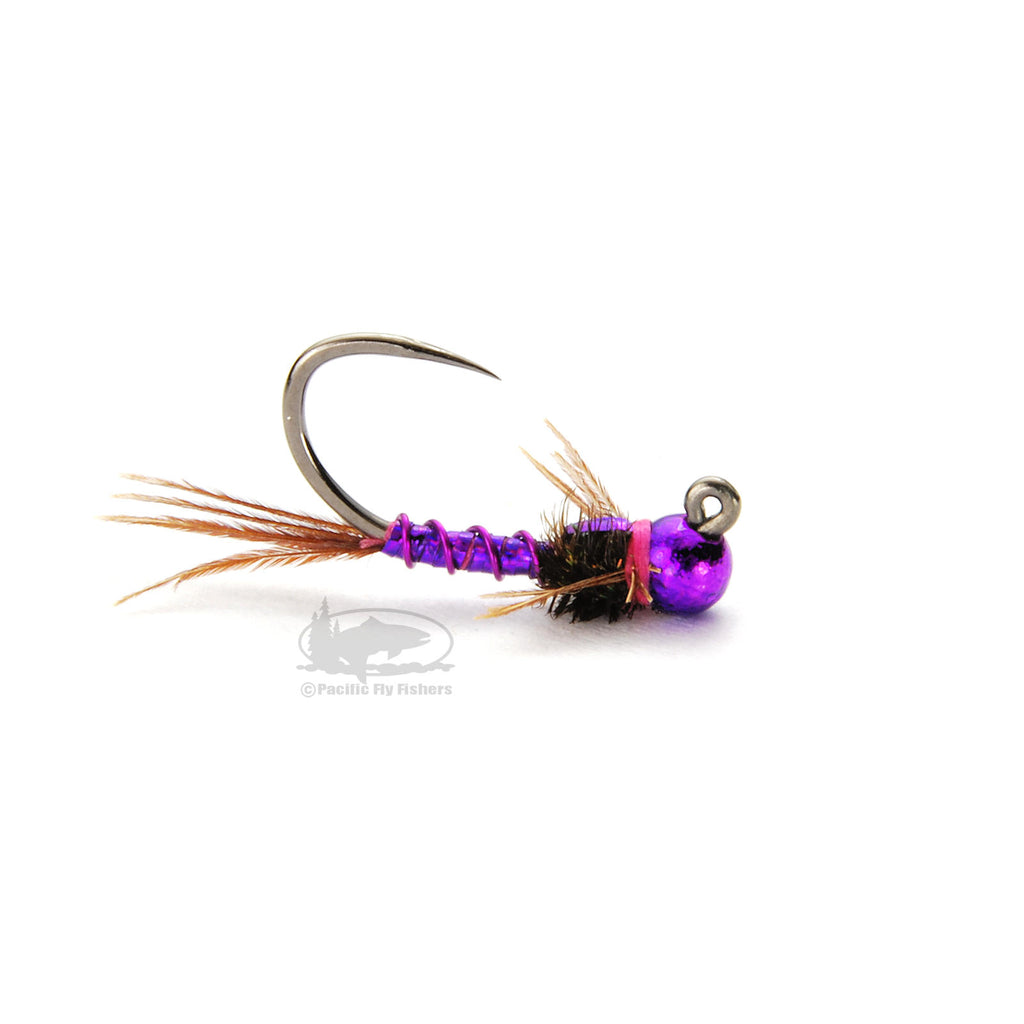 Jig Lightning Bug - Purple - Euro Nymph - Tungsten - Fly Fishing Flies