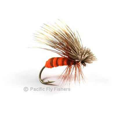 Kingrey's Better Foam Caddis - October Orange - Pacific Fly Fishers