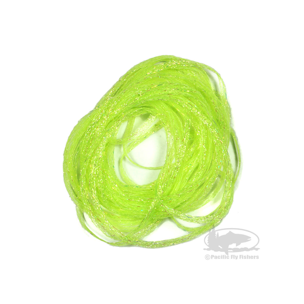 Mini Flat Fly Braid - Fl Chartreuse