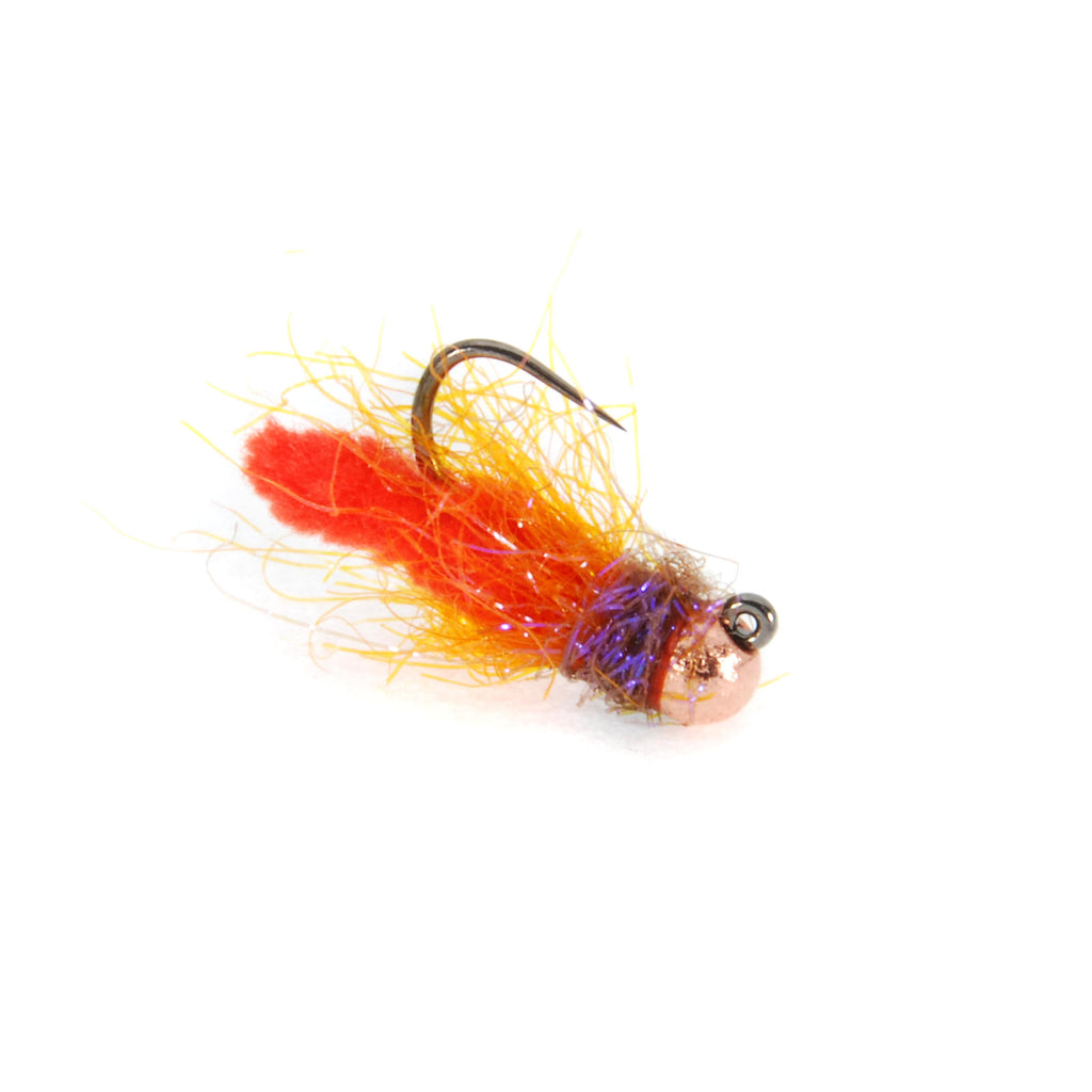 Mini Mopsicle Jig - Orange - Tungsten Jig Flies - Nymphs