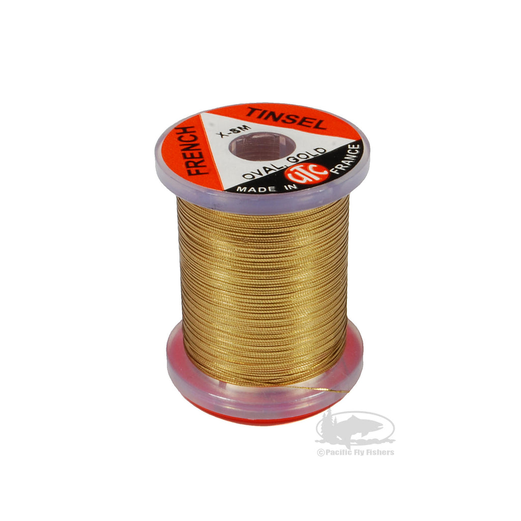 Oval French Tinsel - Gold - Fly Tying Materials