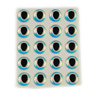 Oval Pupil 3D Eye - Pearl / Black