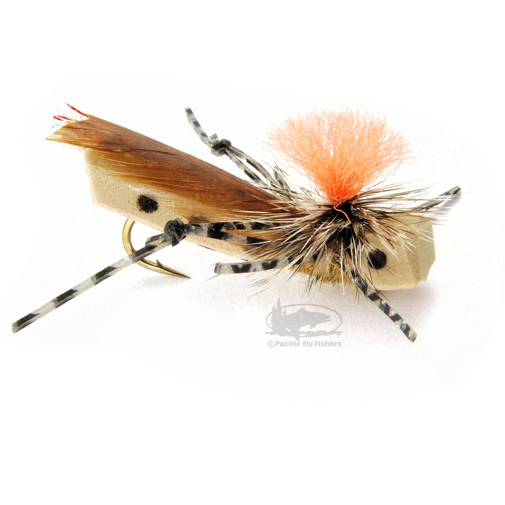 Parachute Frankenhopper - Tan - Grasshopper Hoppers - Terrestrials - Fly Fishing Flies