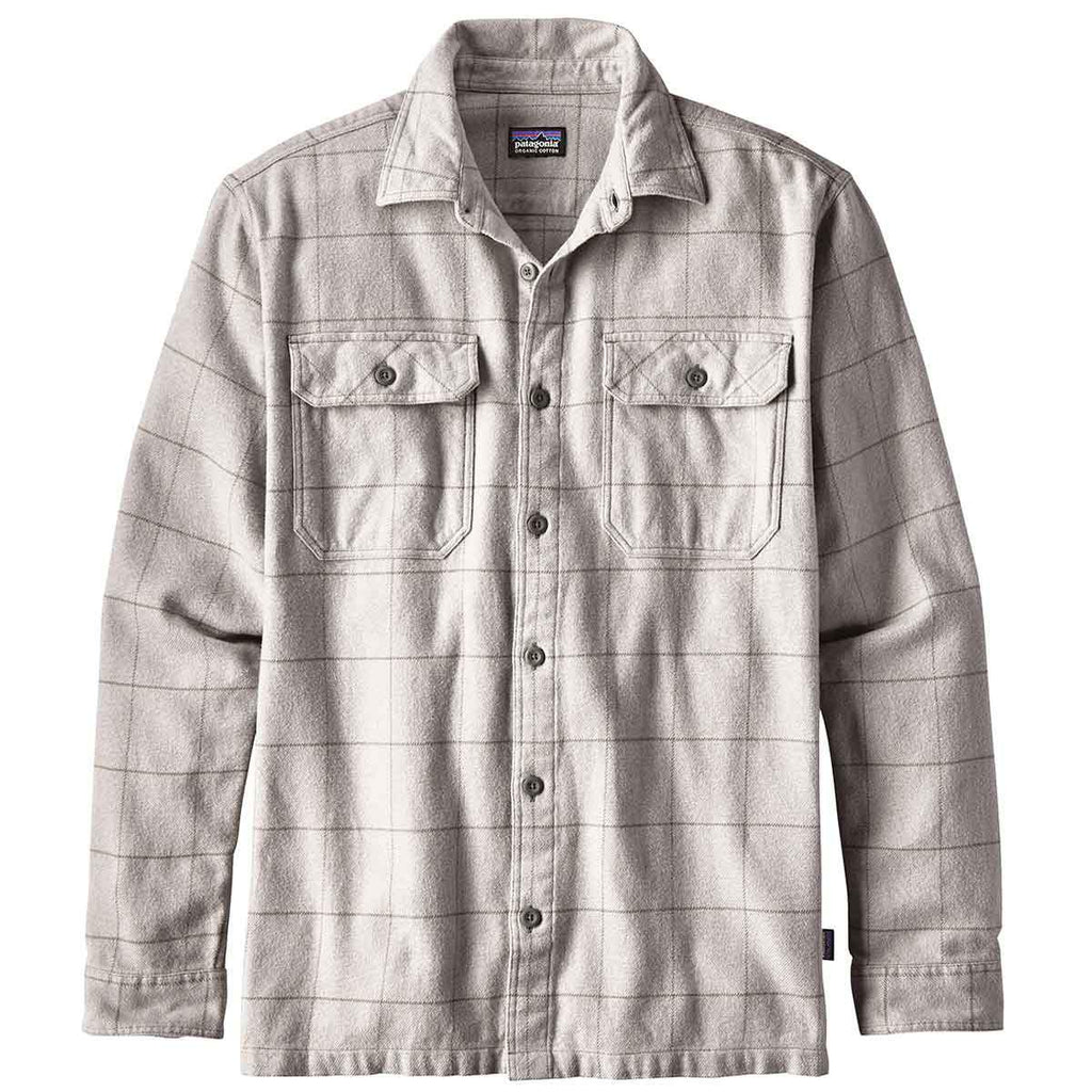 Patagonia Fjord Flannel Shirt Clearance Sale - Tailored Grey