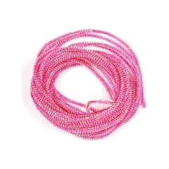 Pearl Core Braid - Pink - Fly Tying Material
