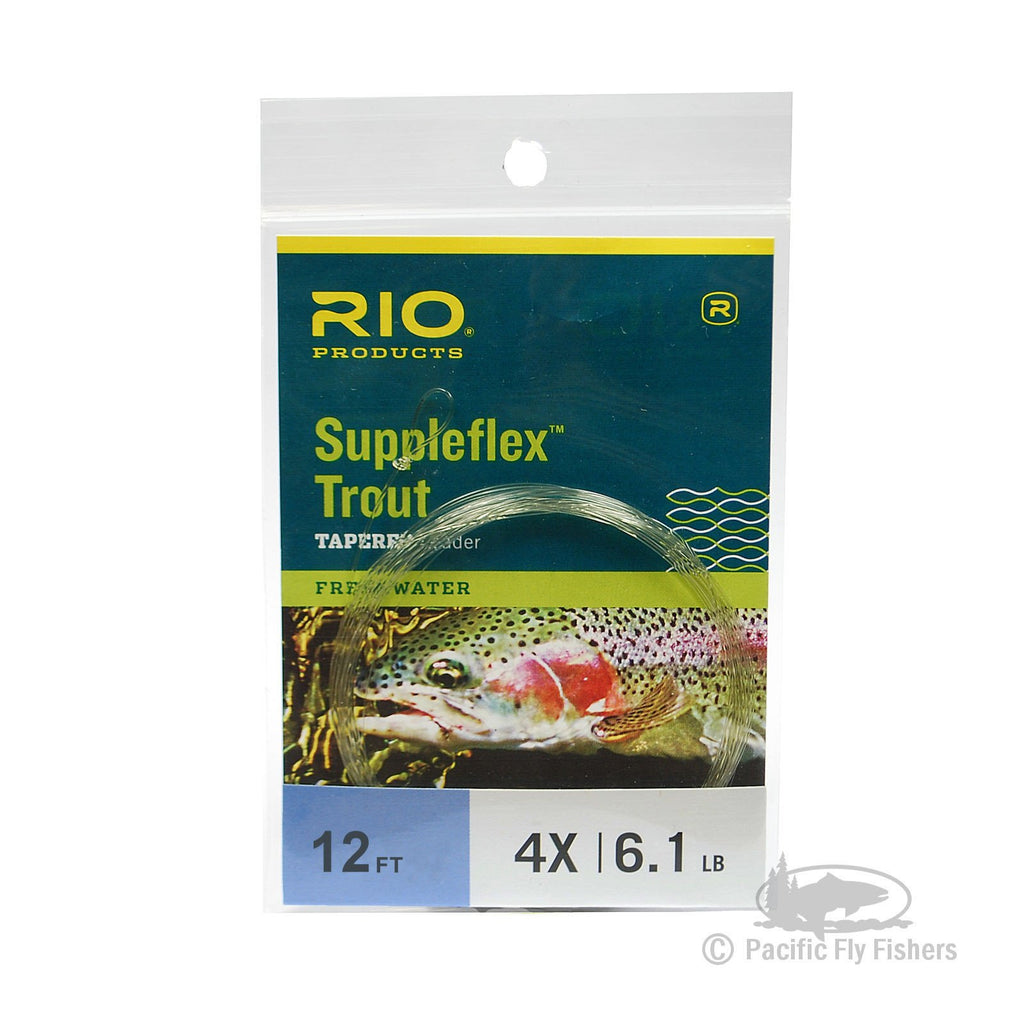 RIO 12ft Suppleflex Trout Leader - 4X