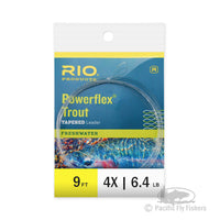 RIO 9ft Powerflex Trout Leaders - 4X