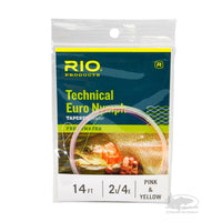 RIO Technical Euro Nymph Leader - Pink & Yellow - European Nymphing Leader