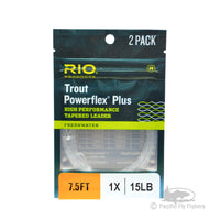RIO 2 Pack Powerflex Plus Leaders 7.5ft - 1X