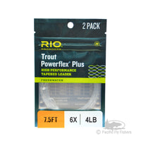 RIO 2 Pack Powerflex Plus Leaders 7.5ft - 6X