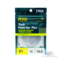 RIO Powerflex Plus Leaders 9ft - 2 Pack