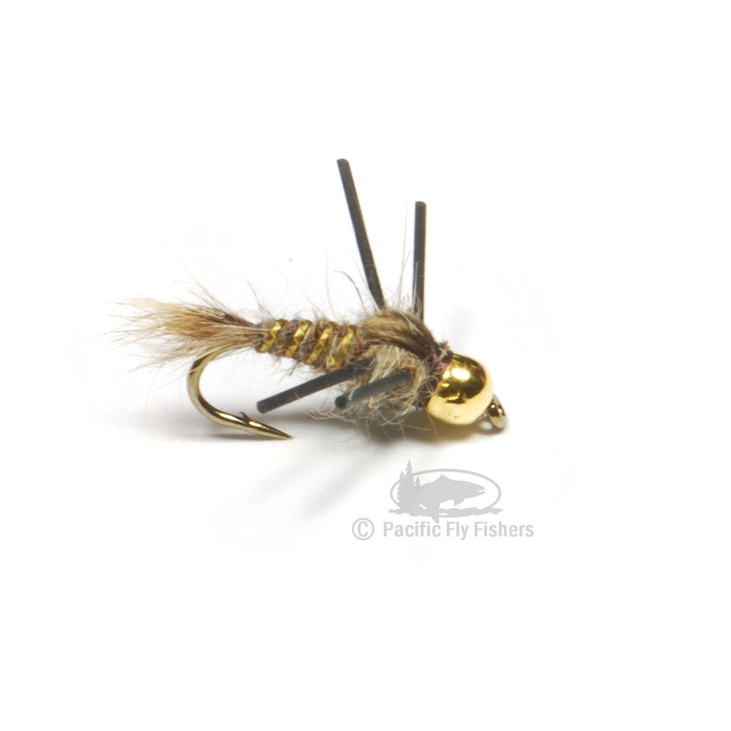 Gold Bead Hare's Ear Rubber Legs - Pacific Fly Fishers