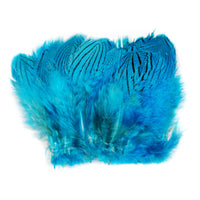Silver Pheasant Feathers - Silver Dr Blue