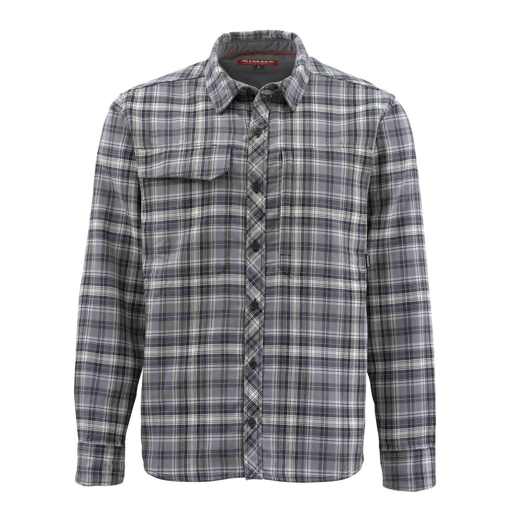 Simms Guide Flannel Shirt on Sale - Steel Plaid