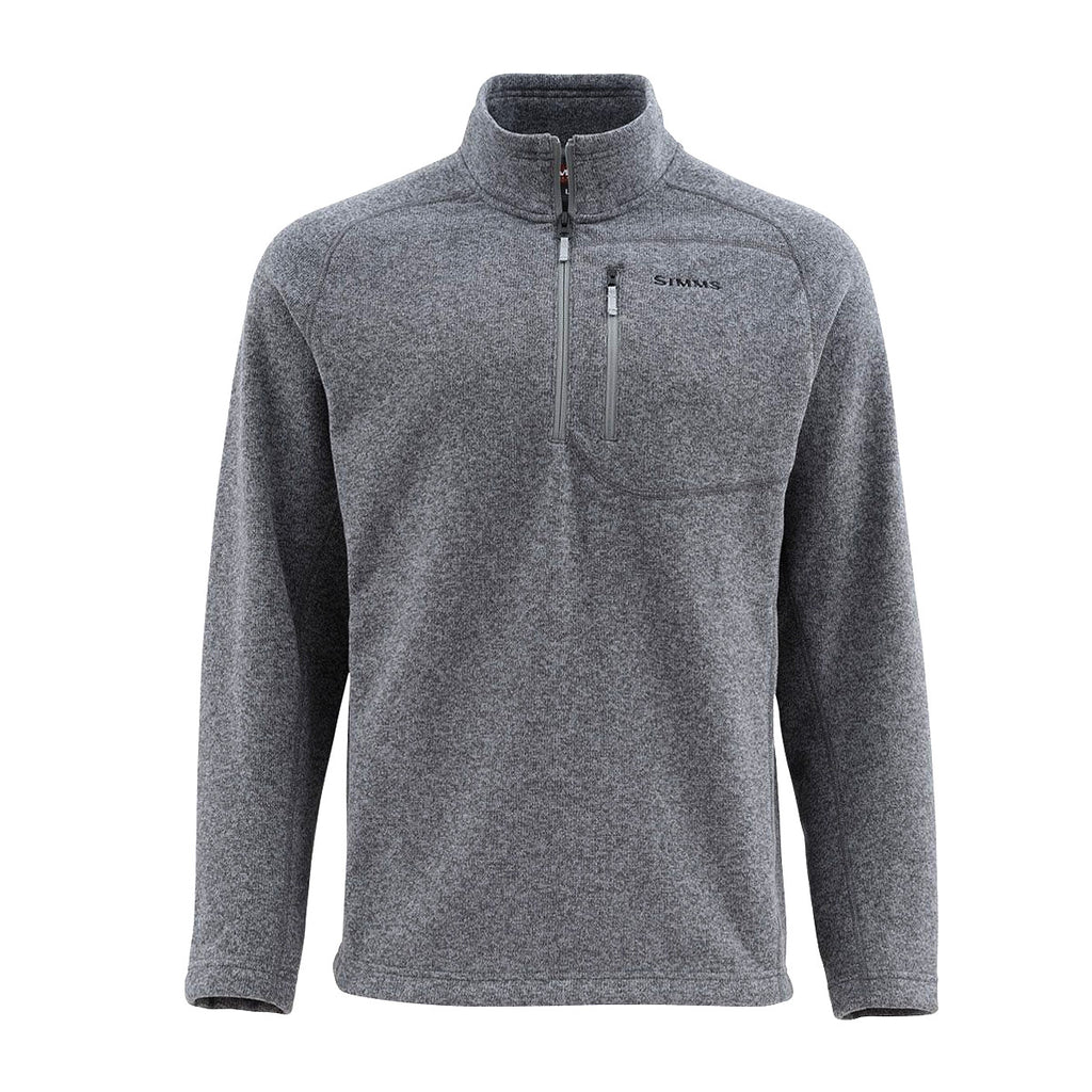 Simms Rivershed Sweater Quarter Zip - Steel