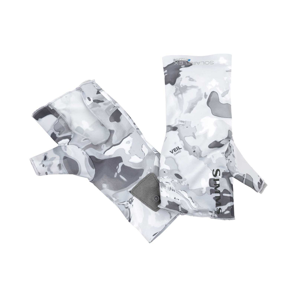 Simms Solarflex No-Finger Sun Gloves - Cloud Camo Grey