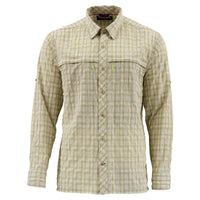 Simms Stone Cold Shirt - Kahki Plaid