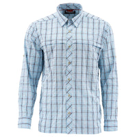 Simms Stone Cold Shirt - Mist Admiral Blue Plaid