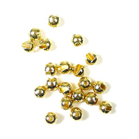 Slotted Tungsten Beads - Gold