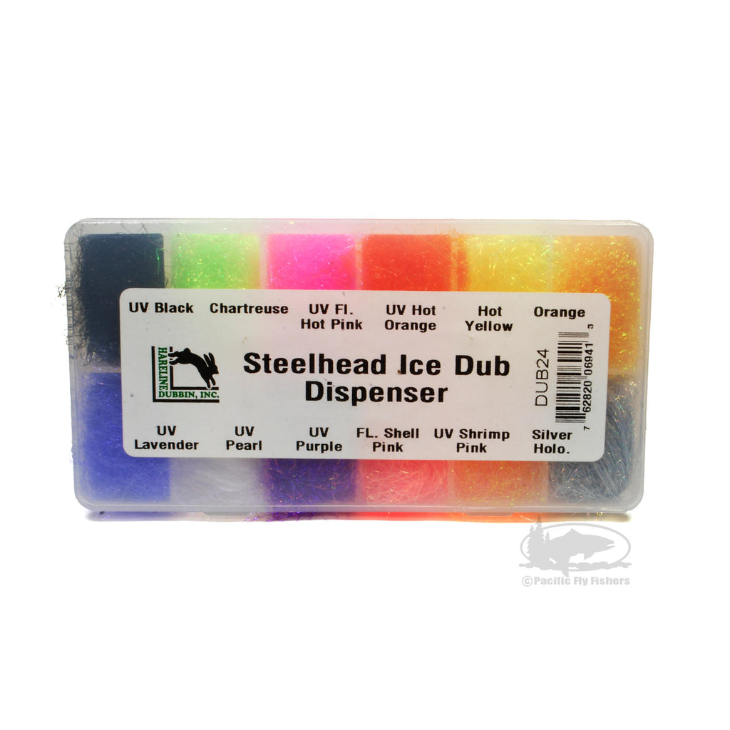 Steelhead ICE Dub Dubbing Dispenser Assortment - Pacific Fly Fishers