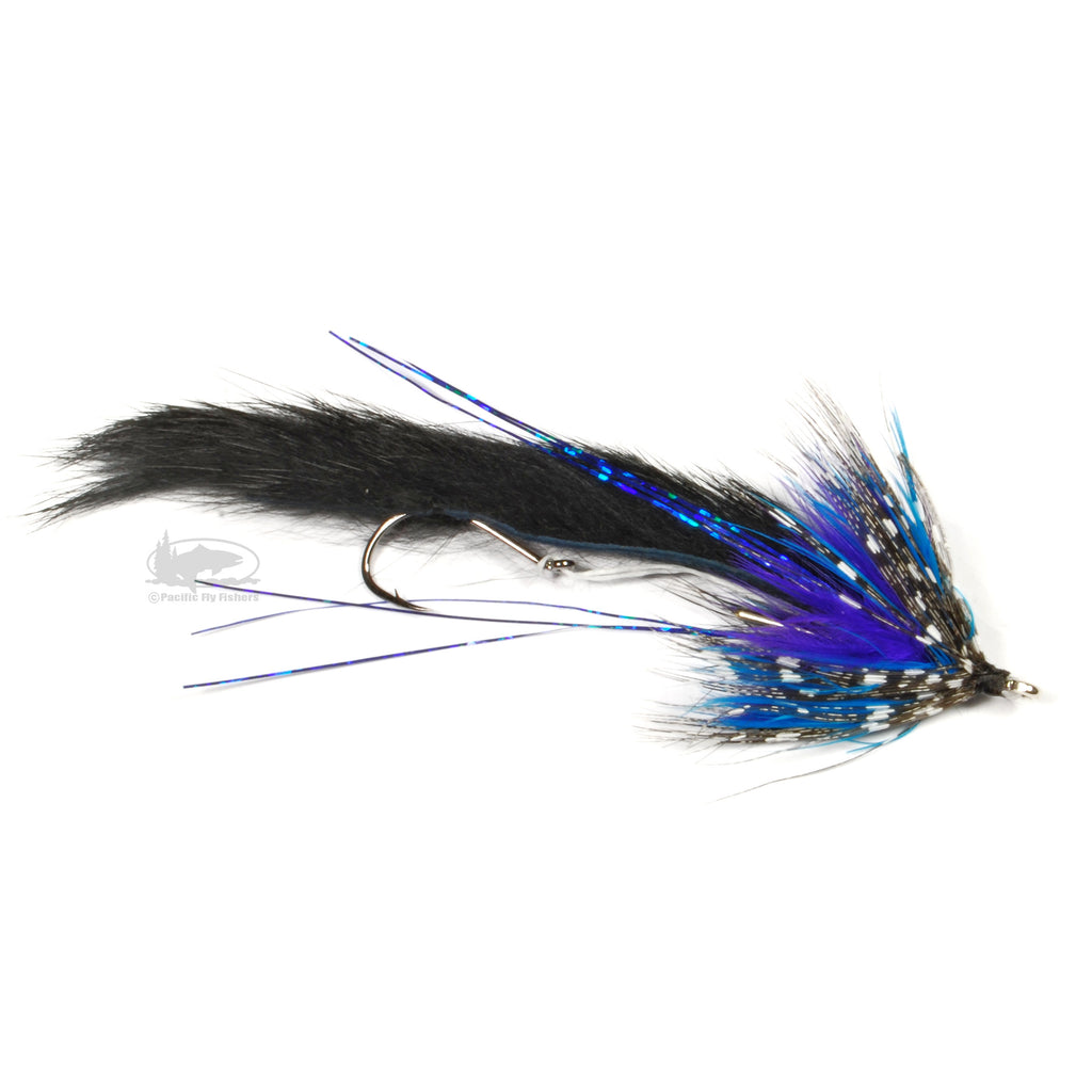 String Leech - Black and Blue - Steelhead Articulated Fly