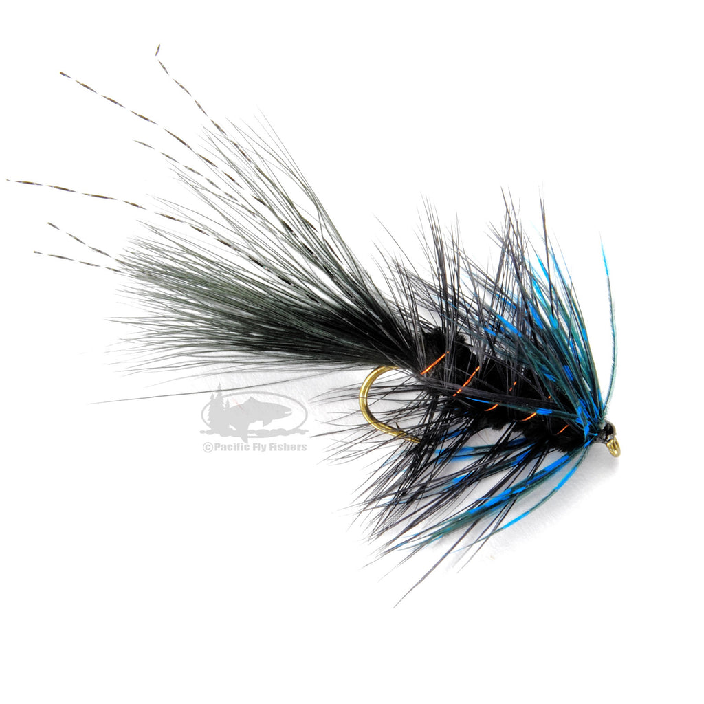 S.T.S. Bugger - Black and Blue - Steelhead Wooly Bugger - Fly Fishing Flies