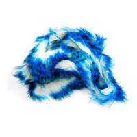 Tiger Barred Magnum Rabbit Strips - Blue / Black over White
