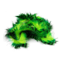 Tiger Barred Magnum Rabbit Strips - Mahi Green / Black over Chartreuse