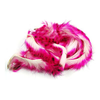 Tiger Barred Rabbit Strips - Hot Pink / Black over White