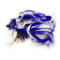 Tiger Barred Rabbit Strips - Purple / Black over White