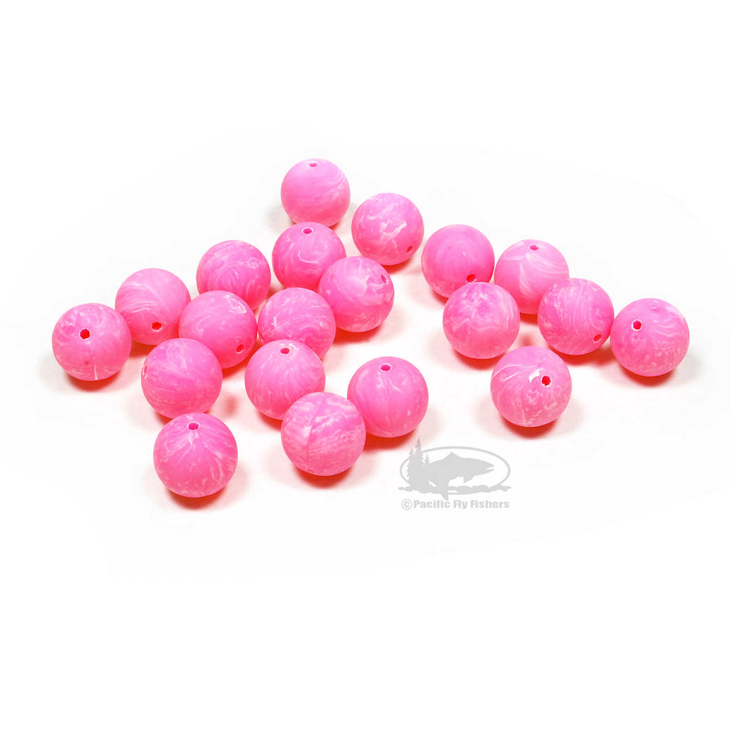 Trout Beads - 12mm - Pink - Steelhead Fly Fishing Beads