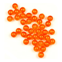 Trout Beads: 8mm - Tangerine