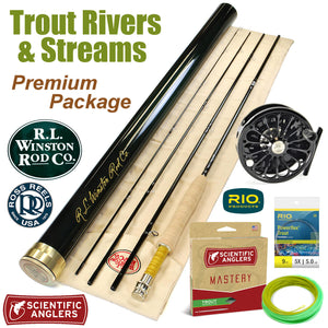 Trout River Premium  Fly Fishing Rod & Reel Packaged Outfit