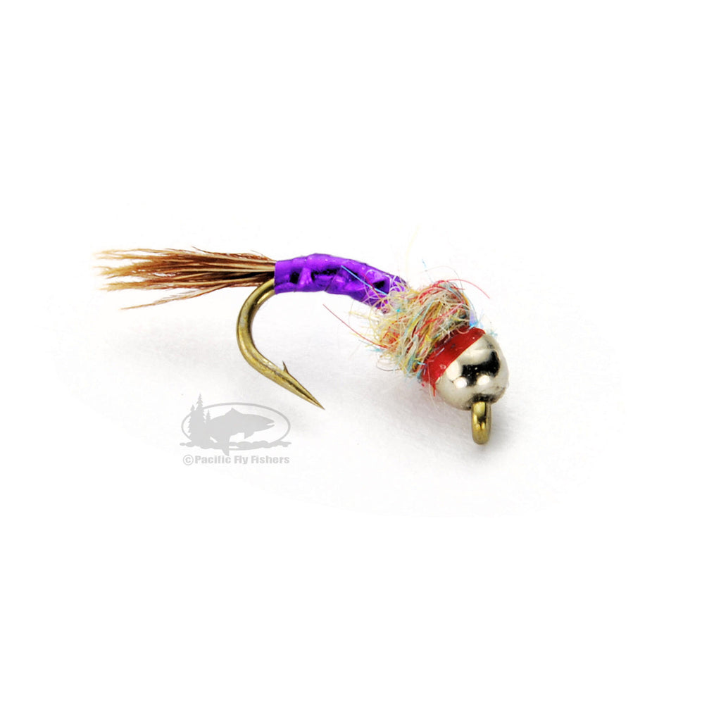 Tungsten Rainbow Warrior - Purple - Midge Nymph - Fly Fishing Flies