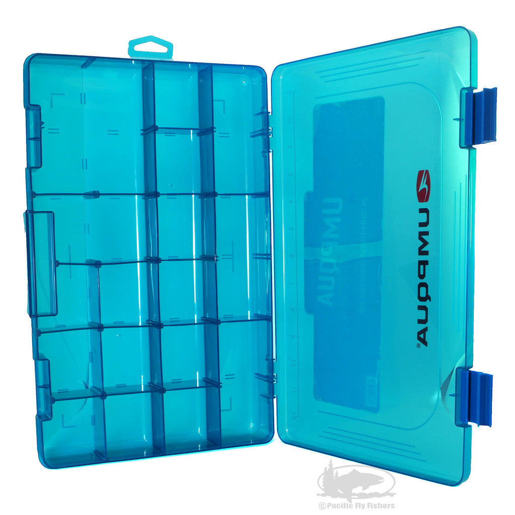 Umpqua Bug Locker 6424 - Blue - Adjustable Compartment Fly Box