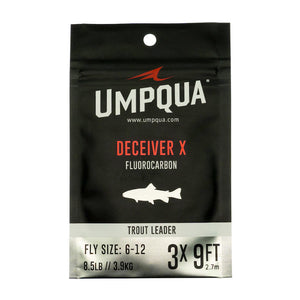Umpqua Deceiver X Fluorocarbon Trout Leaders - 9ft and 7.5-foot - Fly Fishing Leaders