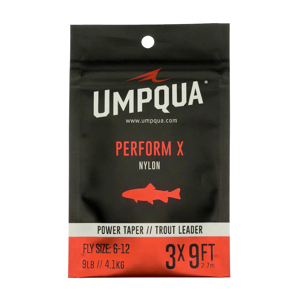 3Pack Umpqua Fly Fishing Trout Tapered Fly Fishing 9/' 6X Leader