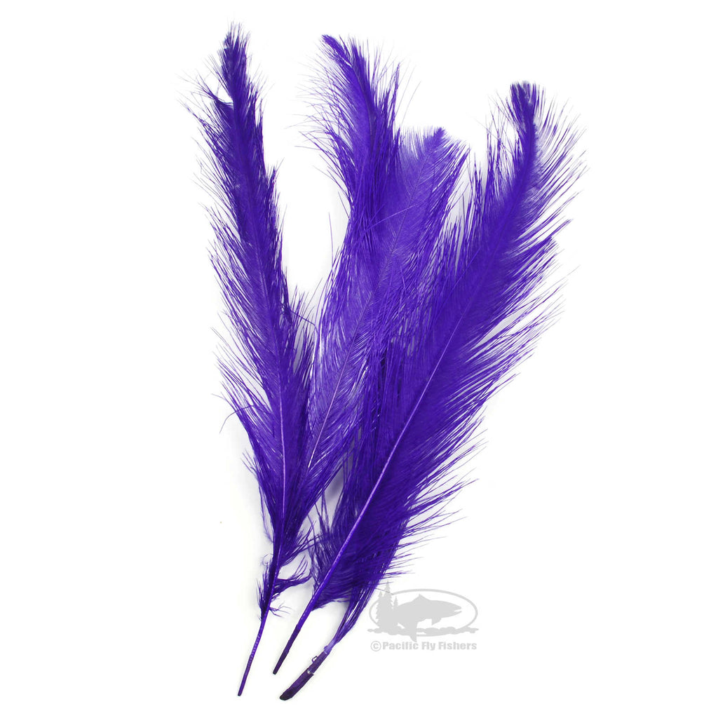 UV Raptor Hackle - Fl Bright Purple - Spey - Fly Tying Materials