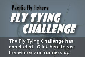 Pacific Fly Fishers Fly Tying Challenge fly tying contest
