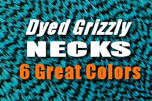 dyed grizzly necks perfect for steelhead intruders