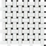 "Shnier Tile Basketweave Mosaic / 12"" x 12"" Wall Art/Floor Art - Tile"
