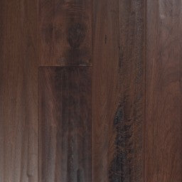 "Vintage Hardwood 4 3/8"" / Black Walnut Medieval - per SqFt Sculpted Black Walnut Northern Solid - Hardwood"
