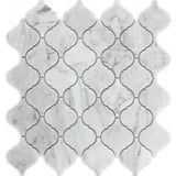 "Ames Tile 12"" x 12"" Arabesque Mosaics / Bianco Carrara Rockford Marble - Tile"